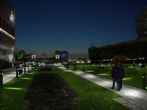 jardin Oslo simulation eclairage