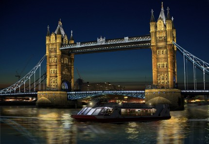 Infographie éclairage Londres Tower Bridge - Gilles Coutelier