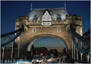 Infographie éclairage Londres Tower Bridge vue02