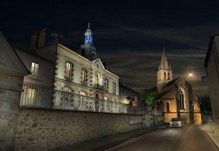 Infographie - Église de Jouy Le Moutier - Gilles Coutelier