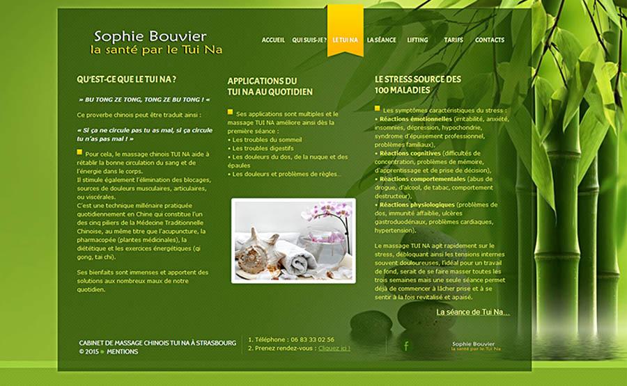 création de site internet Cabinet Massage Tui Na Strasbourg