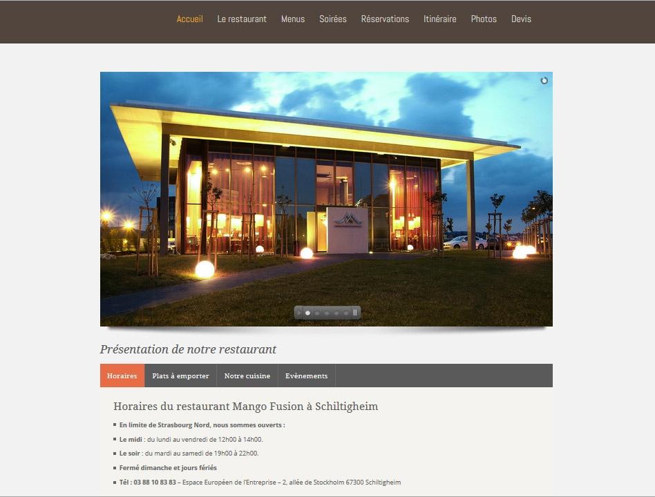 Site web Restaurant MangoFusion