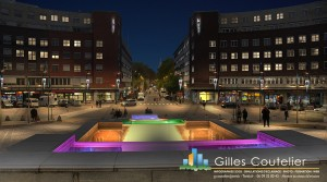 Infographie 3D mairie d'Oslo éclairage