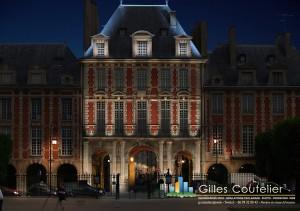Infographie - Place des Vosges - éclairage