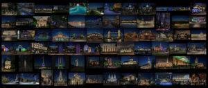 Planche contact infographies éclairage architectural Gilles